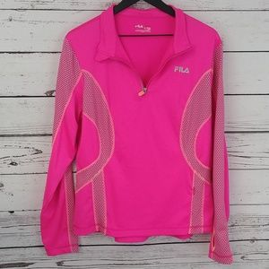 Fila Sport Pink Running Pullover